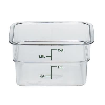 2 Qt Square Container Cam Wear Cambro 2sfscw Food Storage Containers Cambro Food Storage Boxes