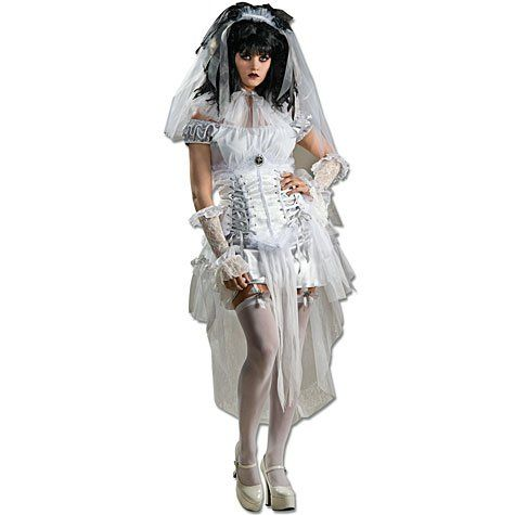Gothic Adult Mistress Ghostly White Costume
