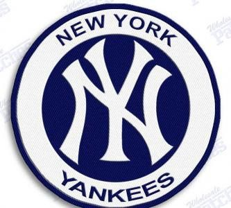 New York Yankees Iron On 100 Embroidered By Autosportpatches 6 50 New York Yankees Yankees Mlb Team Logos