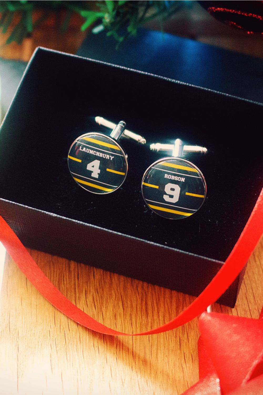 Wasps Rugby Cufflinks Personalised Sports Team Name Number Favourite Player Your Name Xmas Gift Unique Personalized Gift Rugby Gifts Unique Items Products