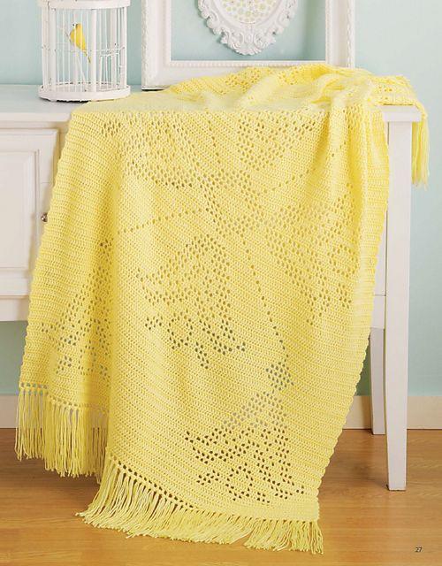 Yellow Springtime pattern by Michele Mireau | Afghan Crochet ...