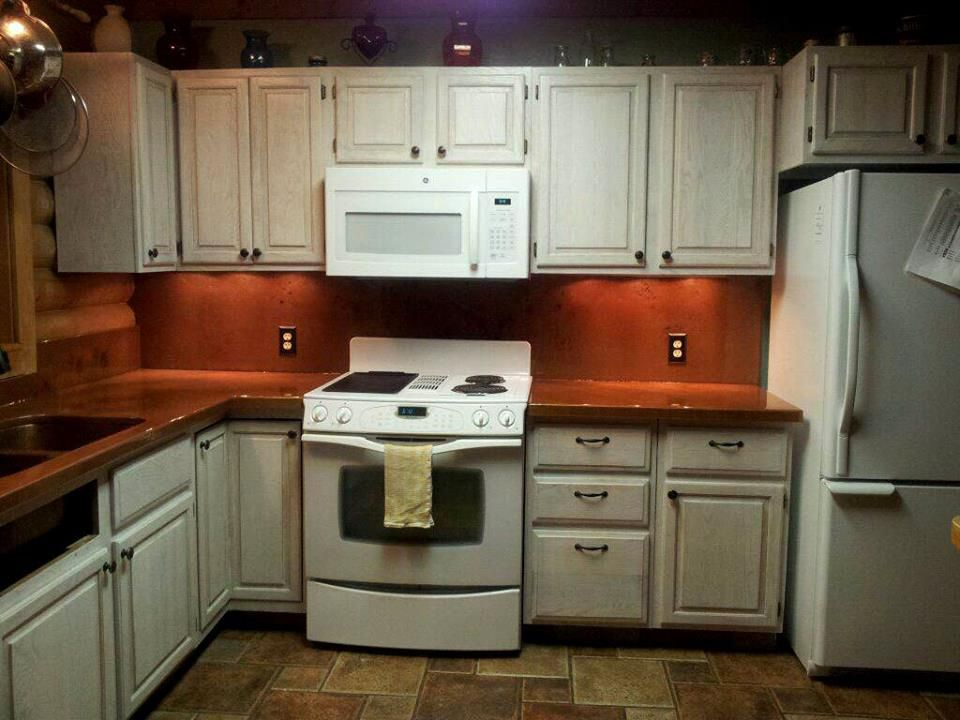 Copper Metallic Epoxy Counter Top Diy Countertops