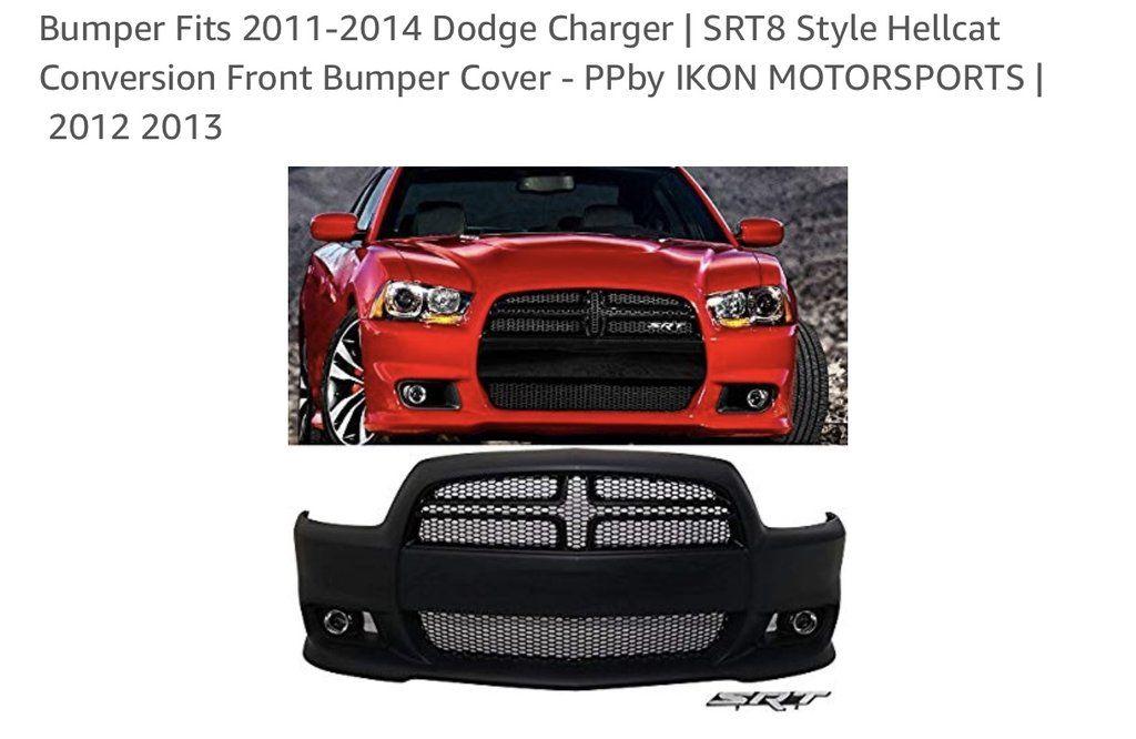 Dodgecharger Srt Front Bumper Kit Fits 2011 To 2014 Models Only Srt Bumpers Emblem Logo