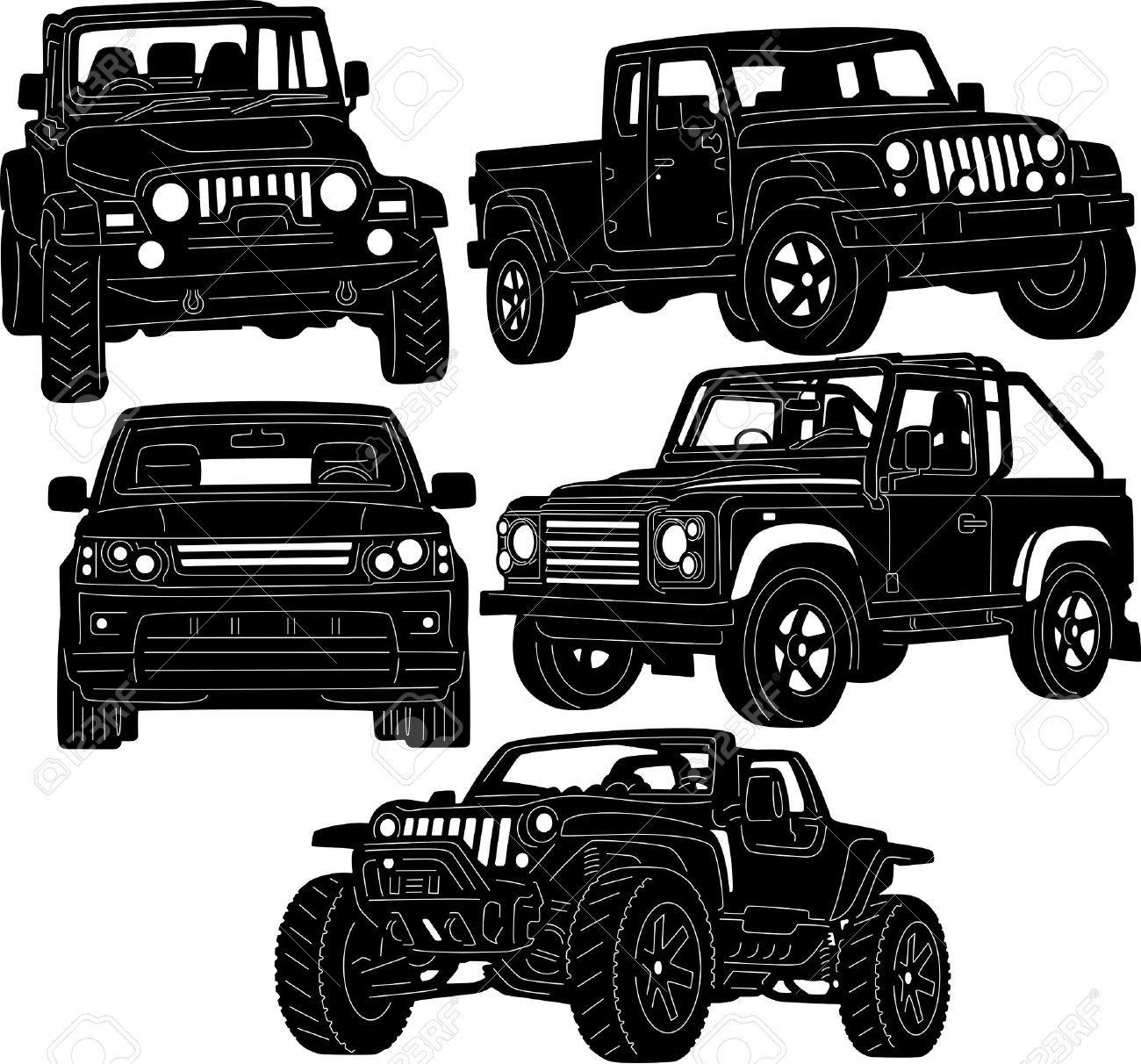 Jeep Mud Clip Art Vector
