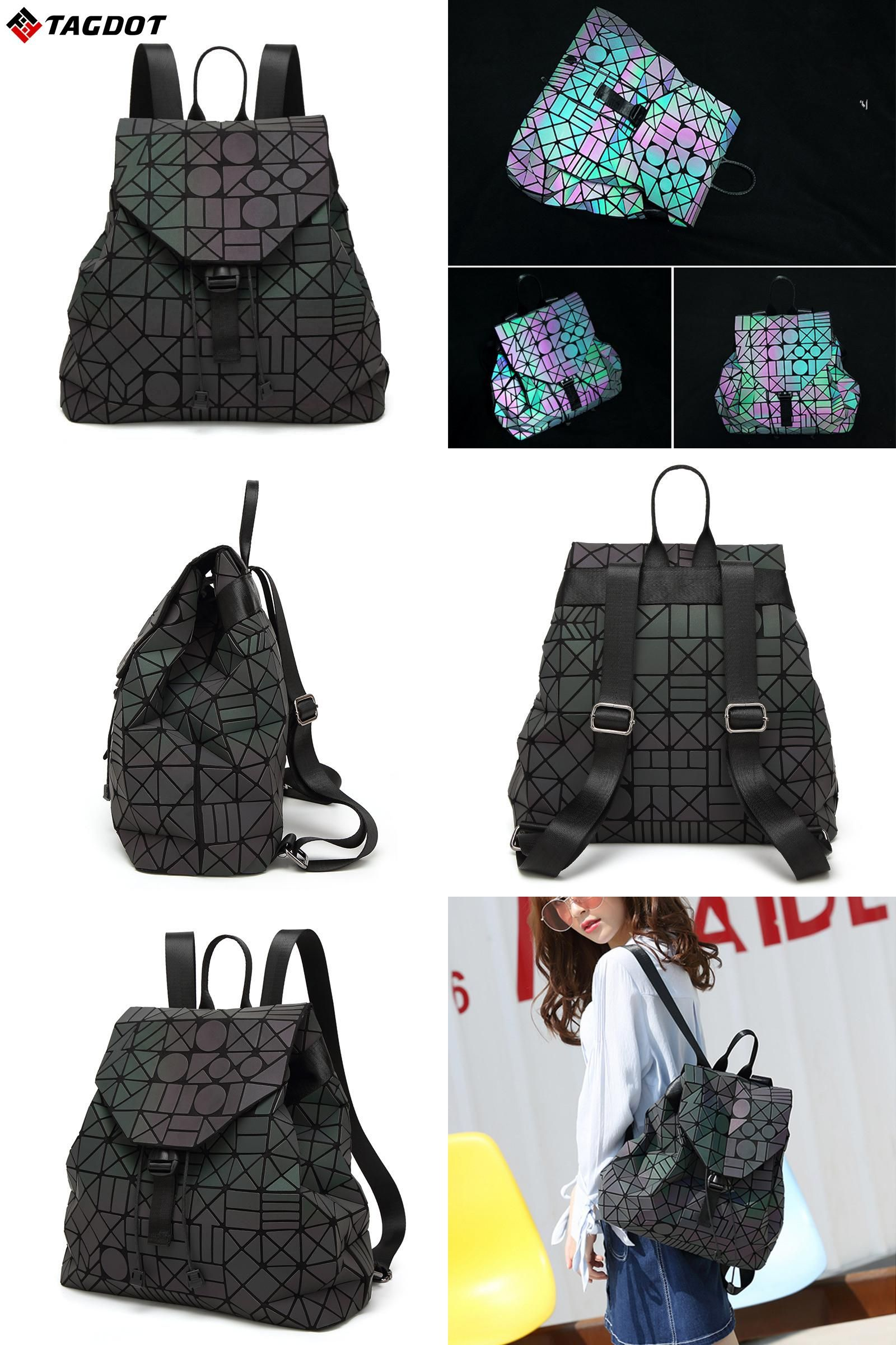 cord lighting. [Visit To Buy] New Fashion Lightning Luminous BaoBao Backpack Female Girl Daily Geometry Cord Lighting
