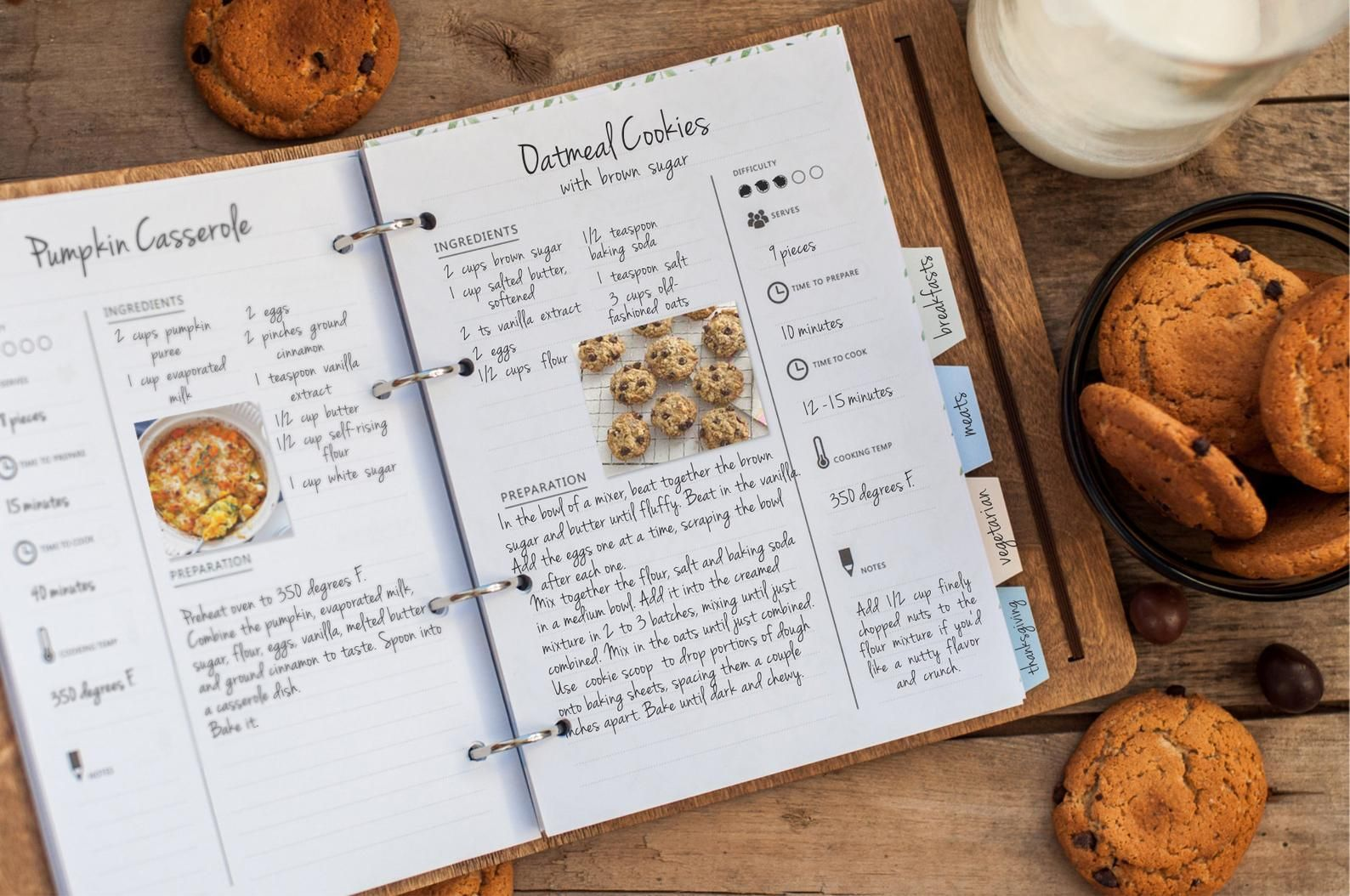 Family Recipe Book With Dividers Ideal Gift For Chefs Or Etsy In 2021 Family Recipe Book Recipe Book Design Recipe Book Diy