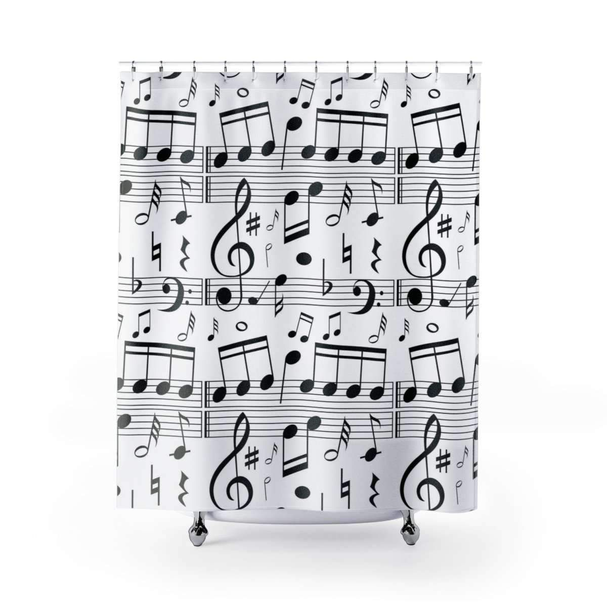 Music Note Shower Curtain With Images Music Notes Curtains