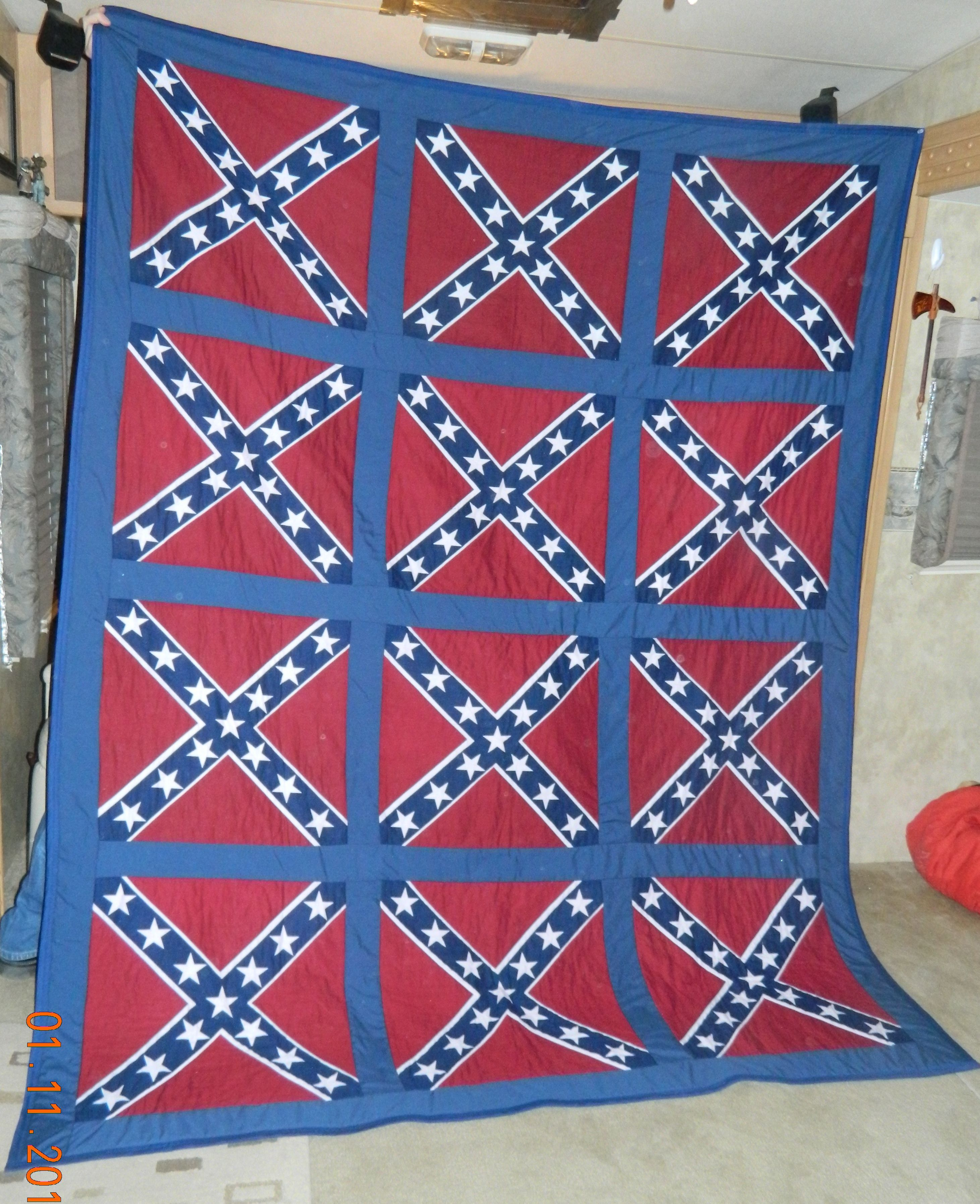 This is the first bandana quilt I made. I use broadcloth for the ... : use of quilt - Adamdwight.com