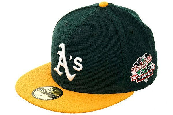 Oakland Athletics 1989 World Series Patch Fitted Hat Oakland Athletics Fitted Hats Hats