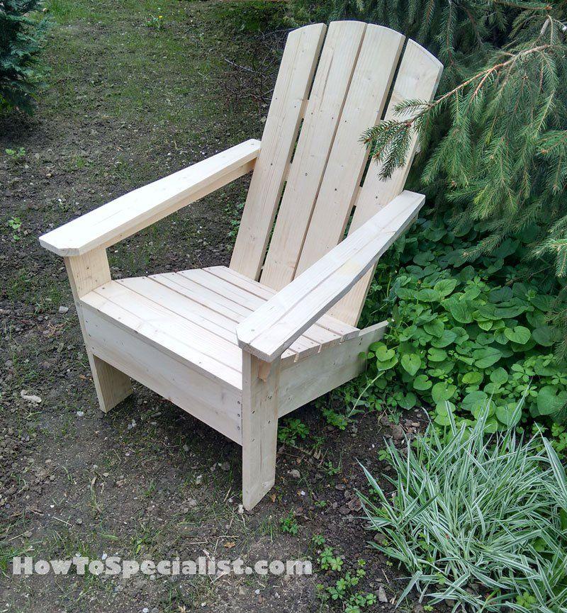 How to build adirondack chairs | Sillas, Madera y Bancos de madera