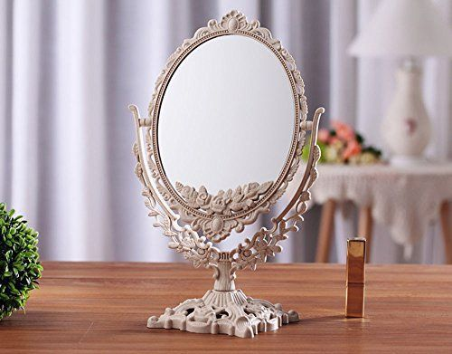 Antique Oval Table Top Mirror Dressing Table Mirror Vintage Vanity