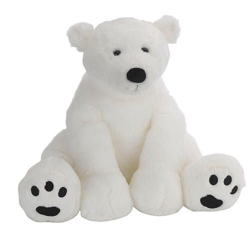 Toys R Us Plush 15.5 inch Polar Bear - White - Toys R Us ...