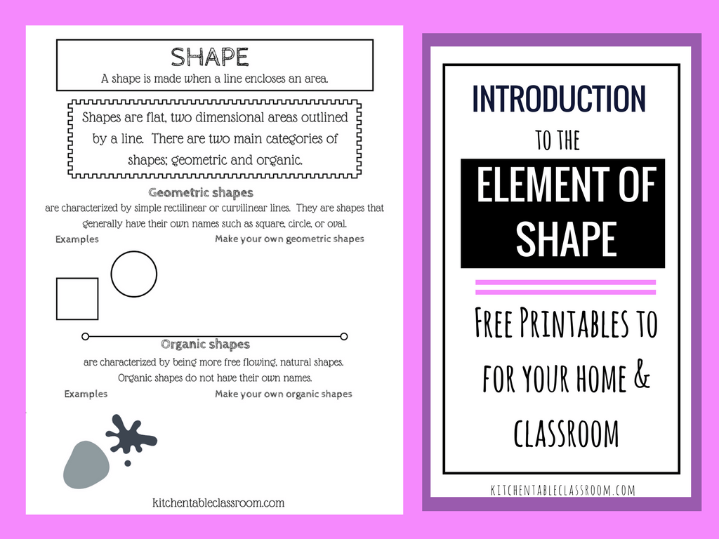 Types Of Shapes In Art The Element Of Shape With A