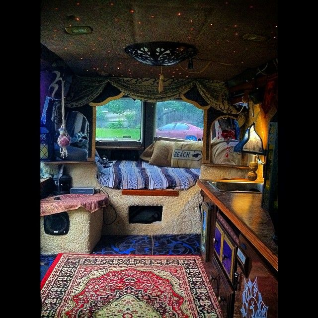 54812fdeab 47 Stunning Interior Design Ideas For Camper Van. The interior isn t  attempting to hide or separate spaces from one another