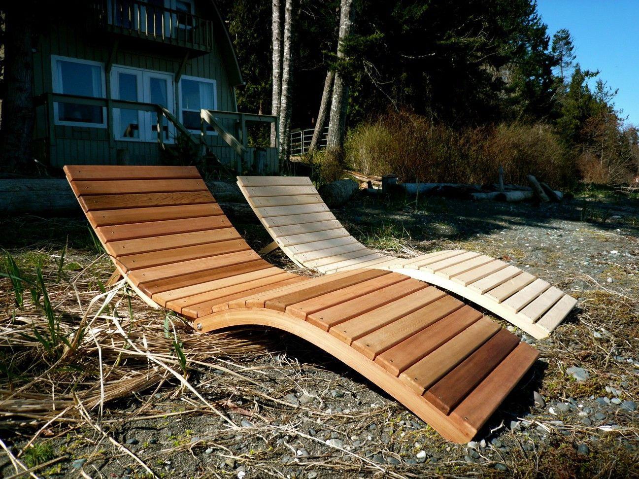 Wooden beach lounge chair - I Want The Sun Here Pool Lounge Chairsbeach