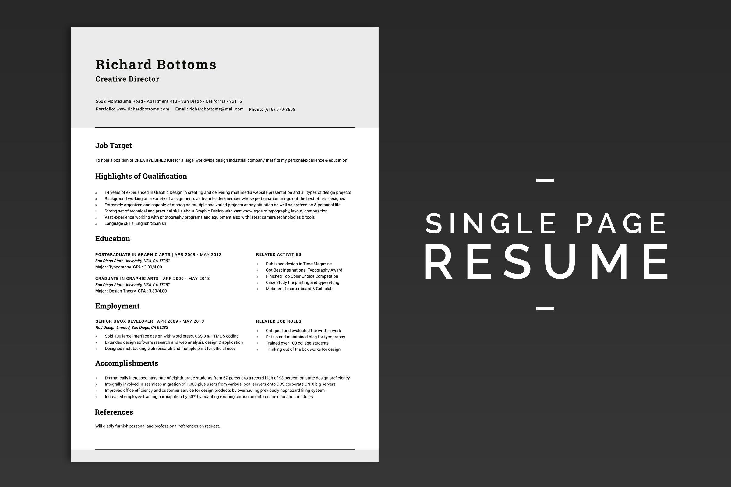 Resume box for targeted jobs v1 cover letter for resume