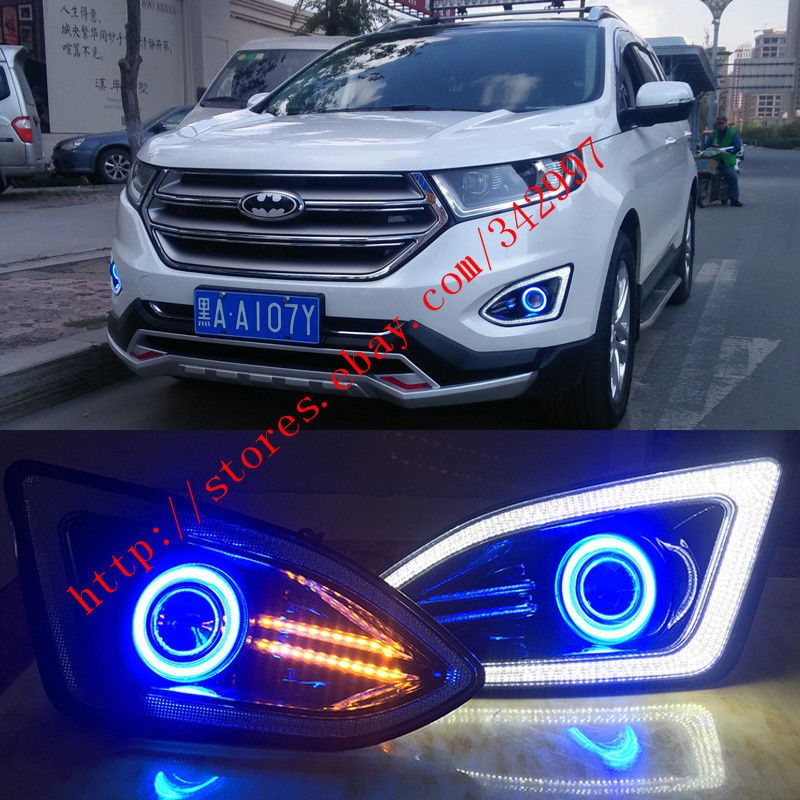 X Led Drl Daytime Day Fog Lights Projectorangel Eyes Kit For Ford Edge   Foglightsangeleyes