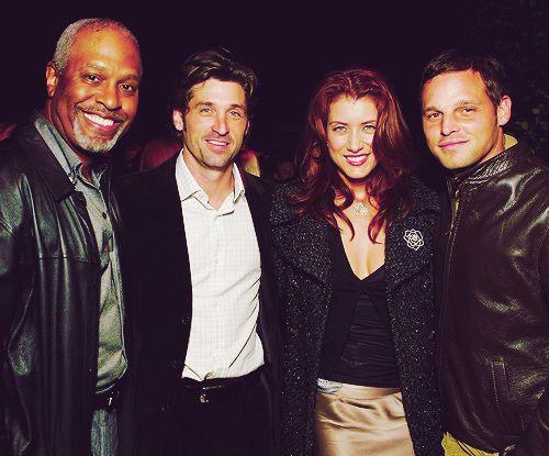 Greys Anatomy James Pickens Jr Patrick Dempsey Kate Walsh Justin