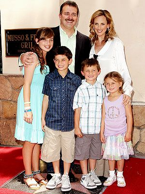 Marlee Matlin, her husband Kevin Grandalski and their kids — Sara Rose, 13, Brandon Joseph, 8 ½, Tyler Daniel, 6 ½, and Isabelle Jane, 5 — pose on her new star on the Hollywood Walk of Fame during a ceremony in Hollywood, Calif.