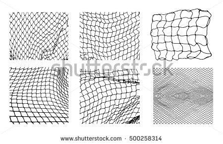 Six Different Net Patterns Rope Net Vector Silhouette Soccer Football Volleyball Tennis And Tennis Net Pattern Fisherm Textured Background Pattern Vector