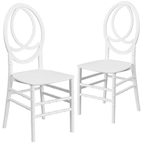 Terrific Flash Furniture 2 Pk Hercules Series White Resin Stacking Bralicious Painted Fabric Chair Ideas Braliciousco