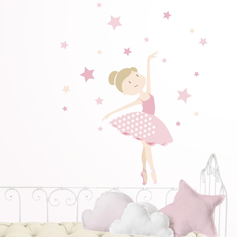 Vinilo infantil bailarina de ballet habitaciones for Vinilo habitacion nina
