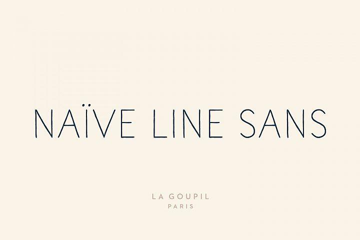 Download Naive Line Sans Family   Naive, Pretty fonts, Font packs