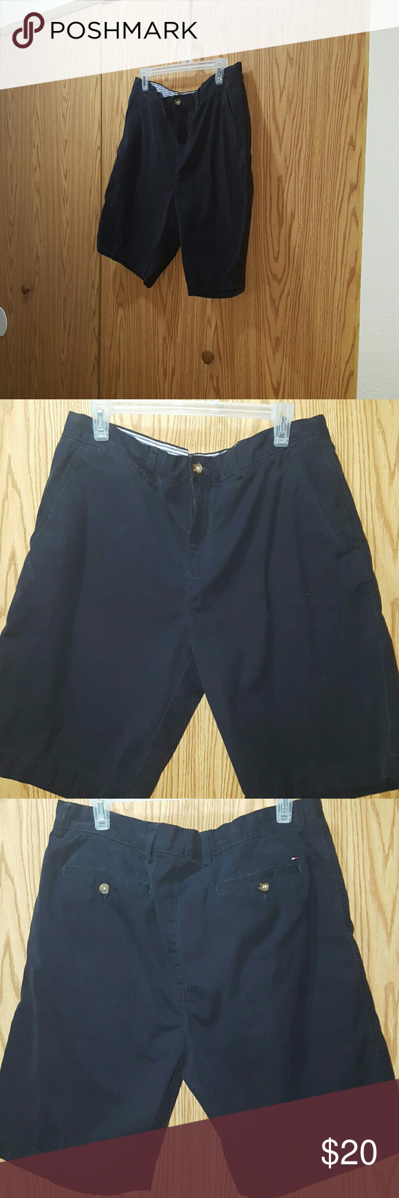 Mens Tommy Hilfiger Shorts Excellent condition  Navy Blue in Color Mens Size 34 Tommy Hilfiger Shorts