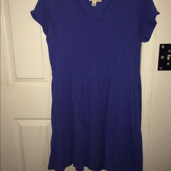 Skater dress Light indigo colored skater style dress, t shirt material Forever 21 Dresses