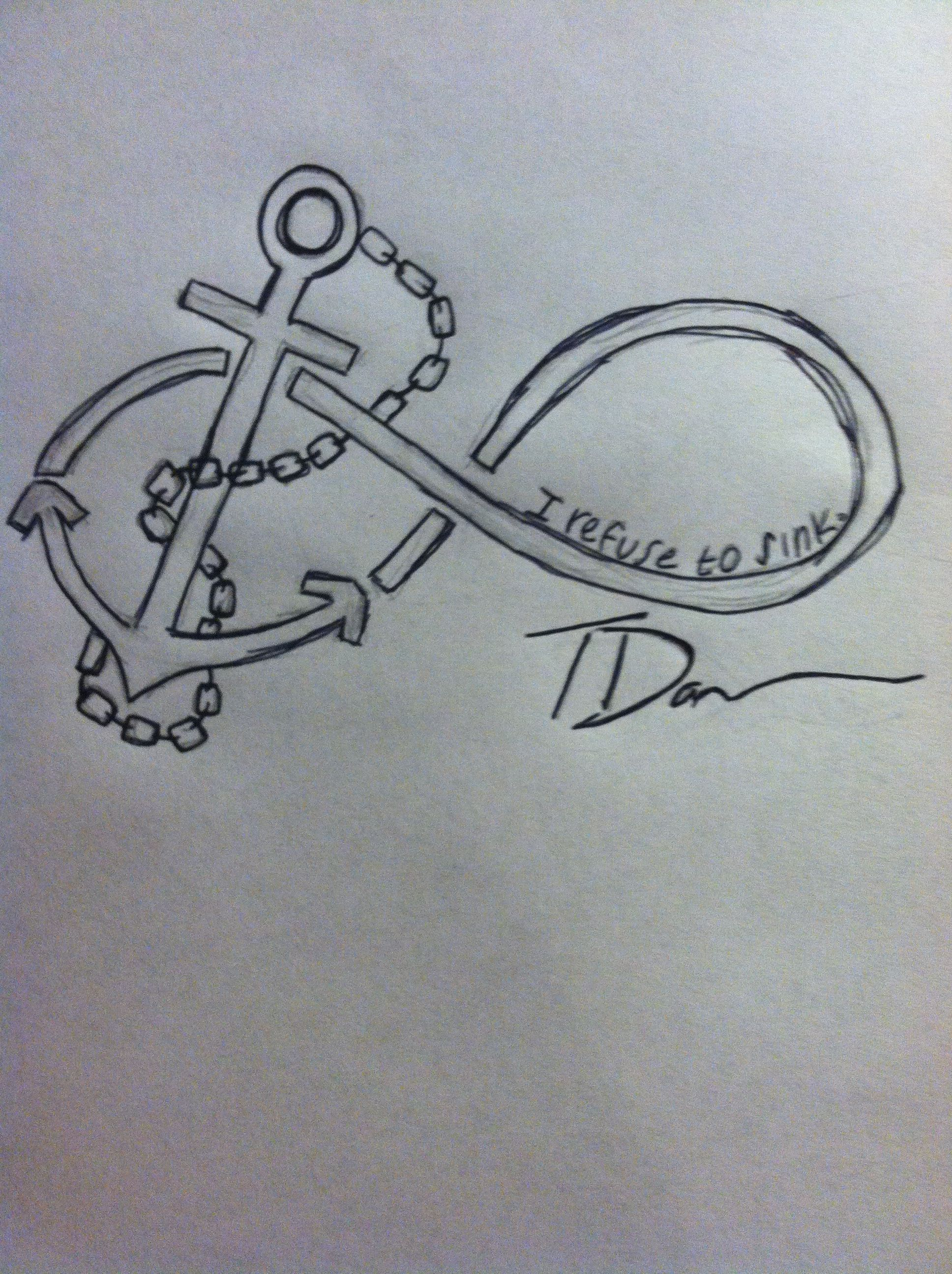 I took the ideas i wanted and made my own infinity tattoo with an i took the ideas i wanted and made my own infinity tattoo with an anchor buycottarizona Images