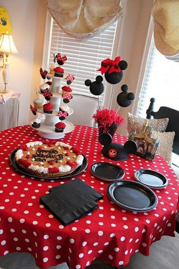 Birthday Party With Beautiful Tischdeko Party Deco Motifs Mickey