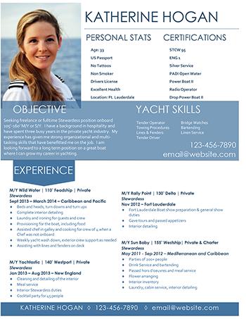 Cv Template Yacht Crew Resume Format Cv Template Yacht Resume Design Template