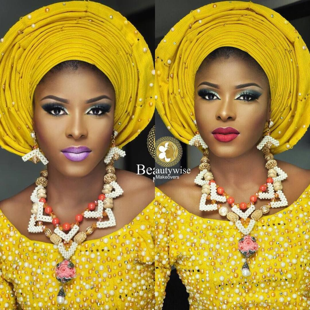 """5,217 Likes, 156 Comments - No.1 Nigerian Wedding Blog (@nigerianwedding) on Instagram: """"Which lippie is your favourite? Left or right? 💄: @beautywise_bola 🙌🏾💯 #NigerianWedding"""""""