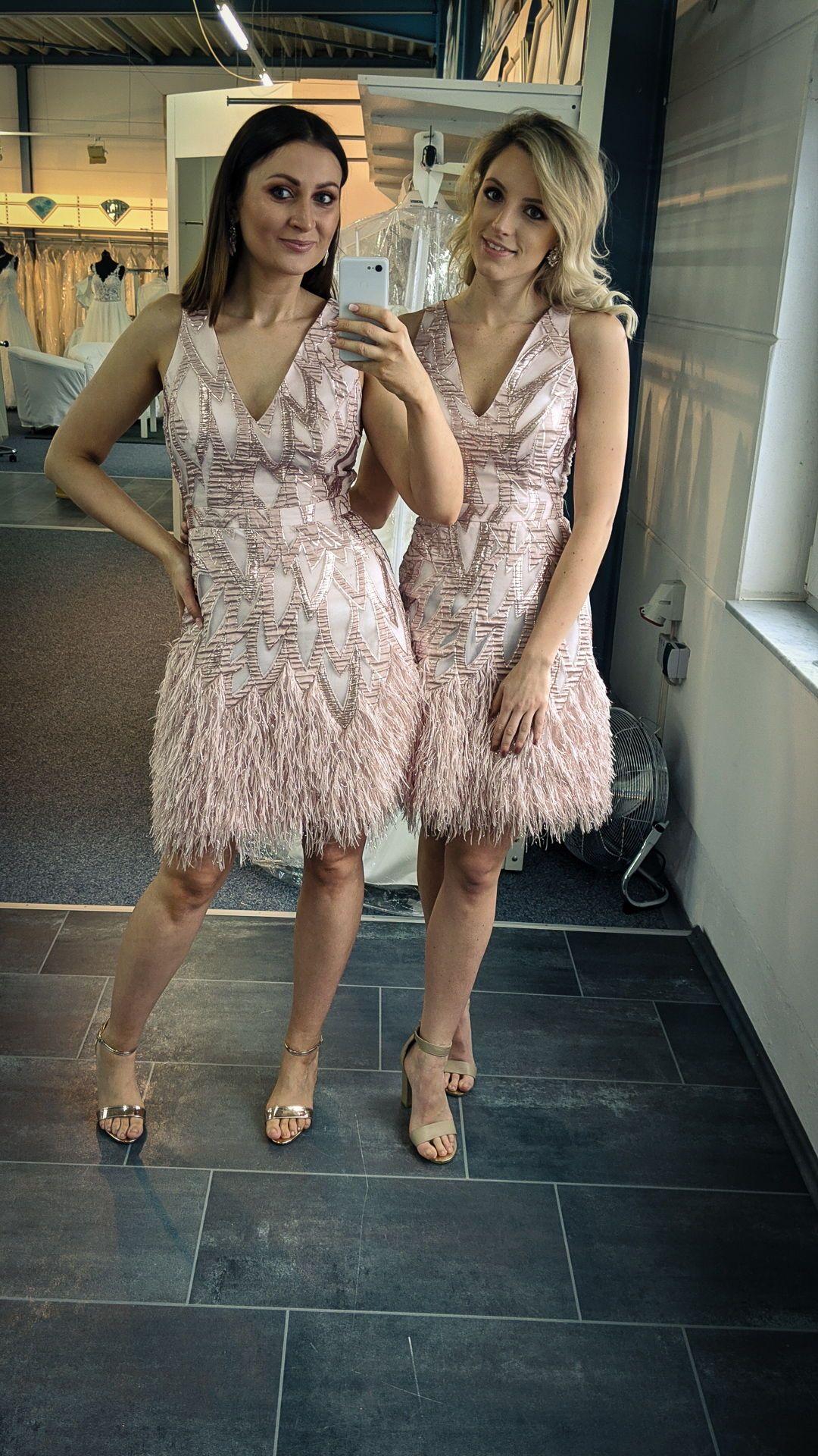Flippiges Partykleid in Rosa mit Glitzerfäden Vera Mont in ...