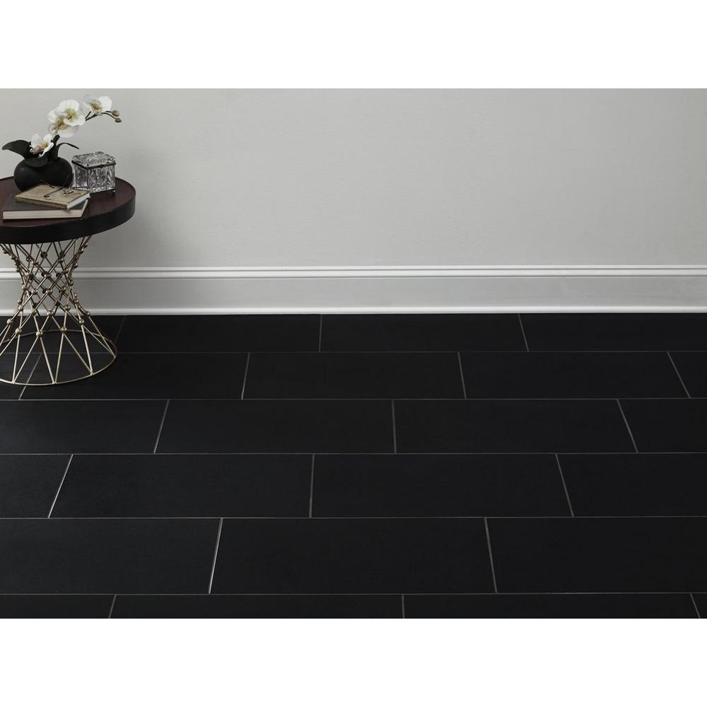 Absolute Black Honed Granite Tile Floor Decor In 2020 Black Kitchen Floor Tiles Black Bathroom Floor Black Floor Tiles
