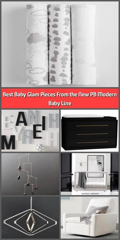 Baby Glam Pieces From the New PB Modern Baby Line  Fashionistas and design purists rejoice PB Modern Baby Pottery Barns anxiously awaited line of highglamour baby furnish...