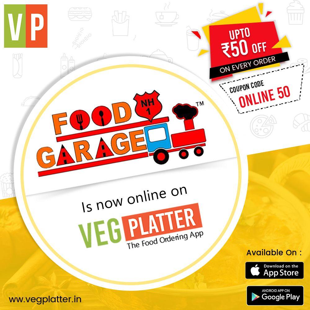 Now Enjoy Delicious Food From Food Garage Huda On Vegplatter