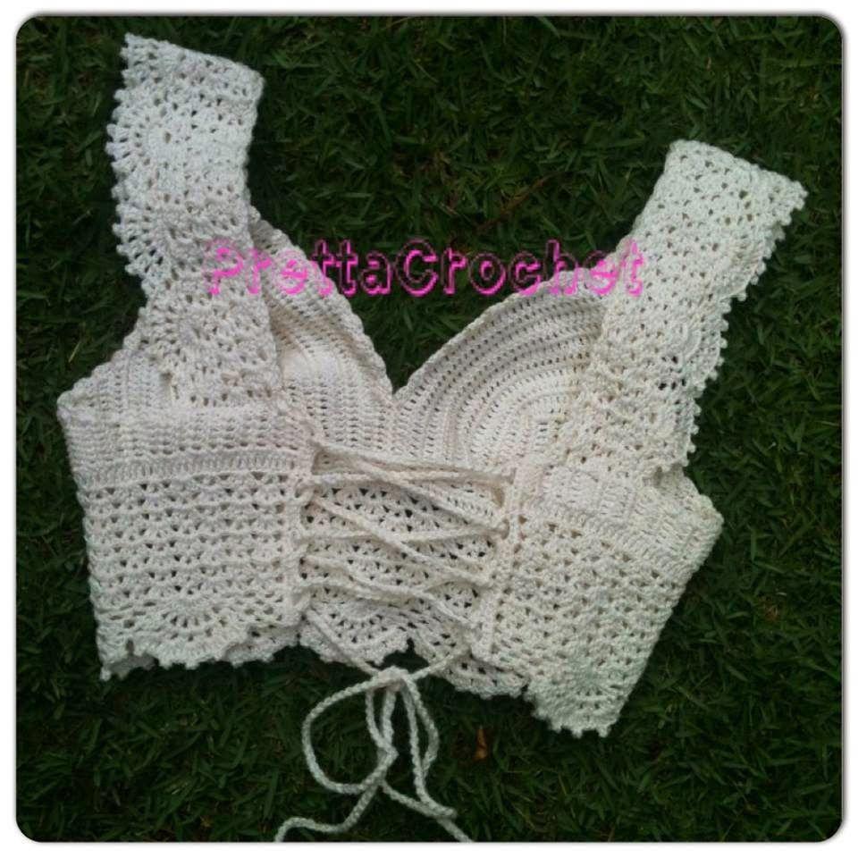 Pretta Crochet: cropped de crochet lovely_ PATTERN 3b 2_3 | Blusas ...