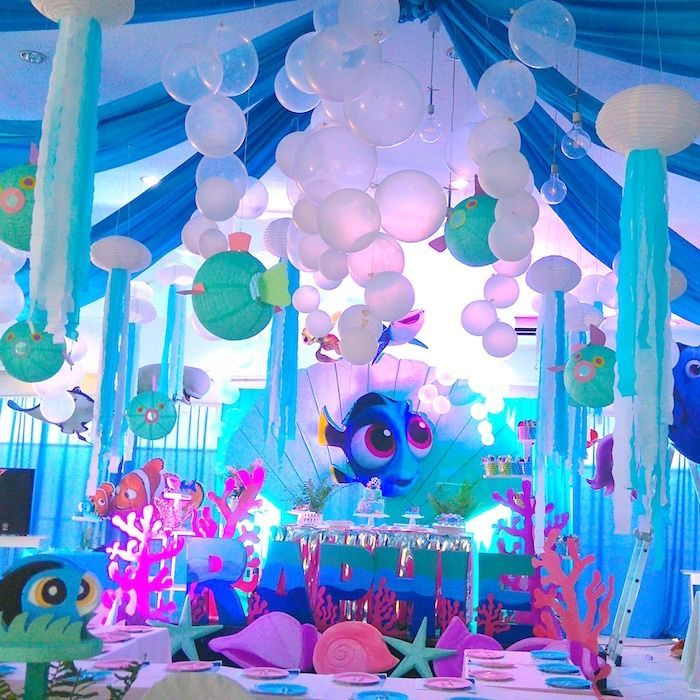 Finding dory under the sea birthday party on kara 39 s party ideas 3 bhg - Th party theme ideas ...