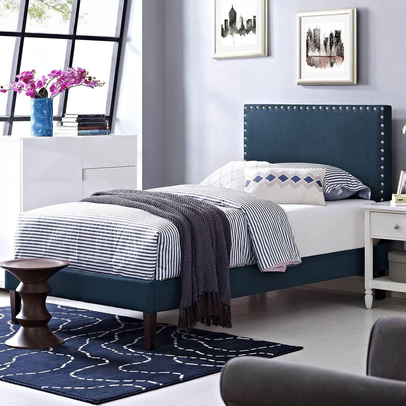 Phoebe Upholstered Platform Bed Upholstered platform bed