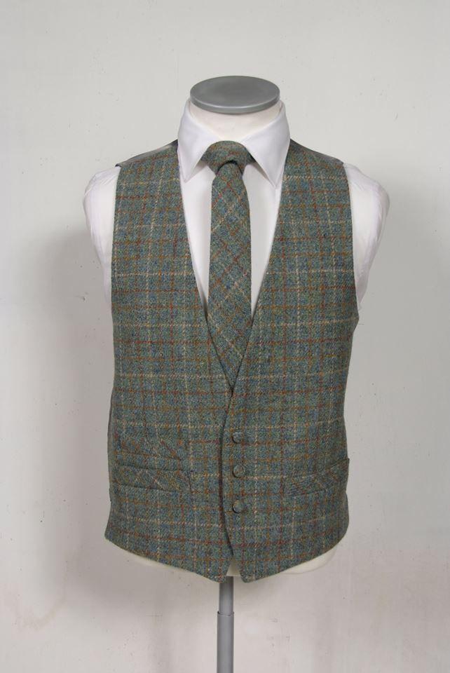 Green Harris Tweed Wedding Waistcoat | Tweed Wedding Ideas ...