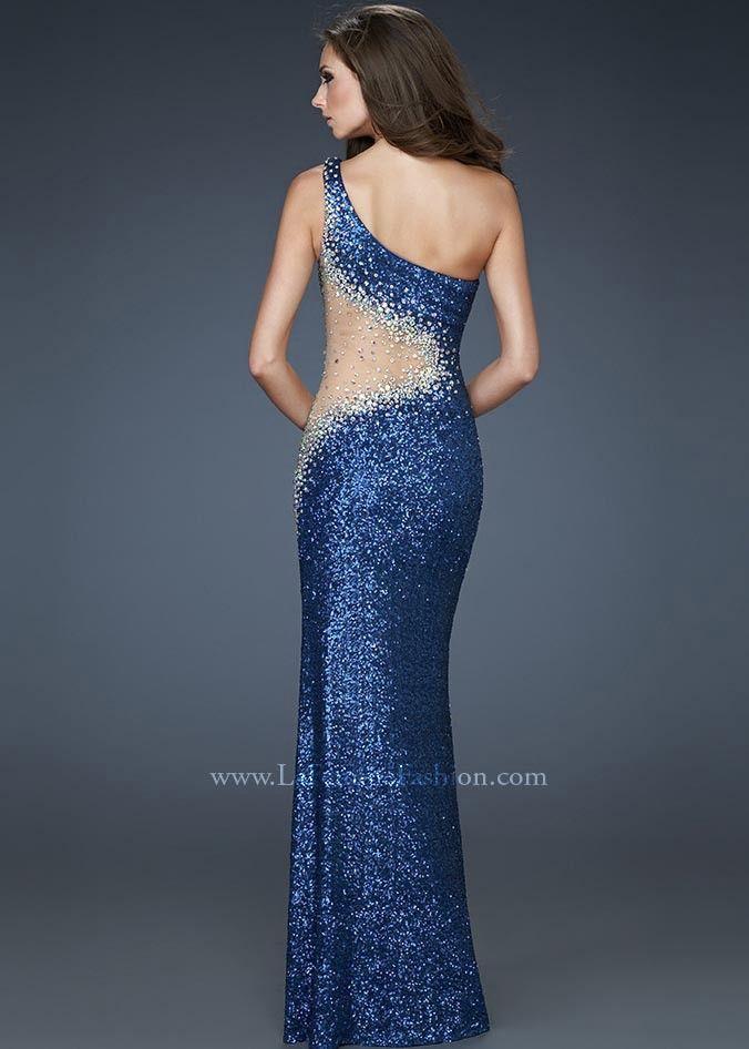 La Femme 17997 Slate Blue Evening Gown Sydneys Board3