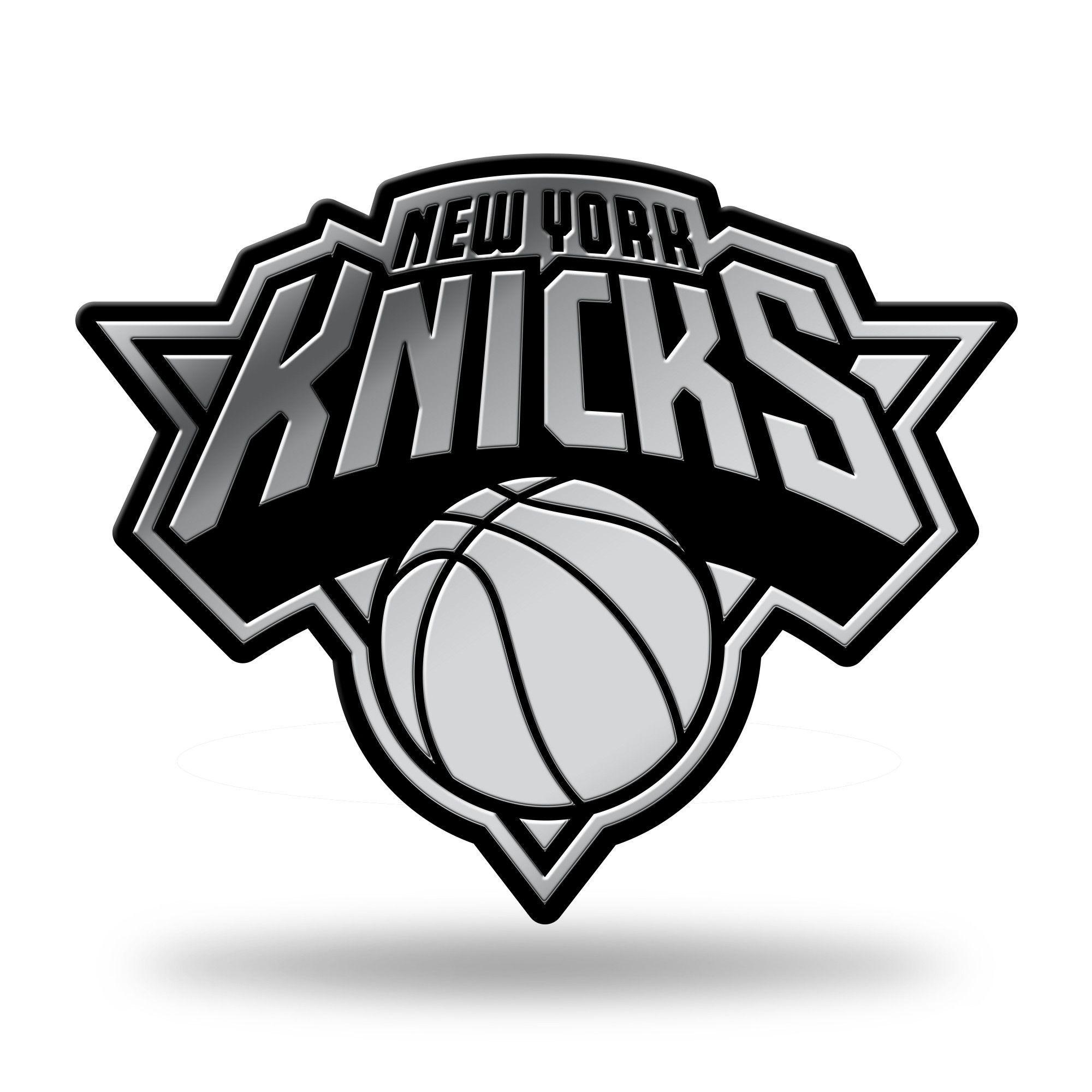 New York Knicks NBA Rico Industries  Laser Cut Inlaid Standard Chrome License Plate Frame