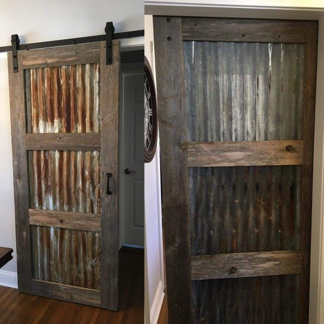 82 Corrugated Metal Barn Door 41 Rustic Barn Door Diy Barn Door Barn Door Designs