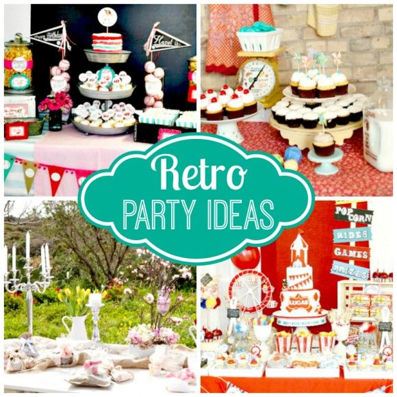 Retro Christmas Party Ideas Part - 33: Love Anything Retro? Check Out All These Retro Party Ideas! |  CatchMyParty.com