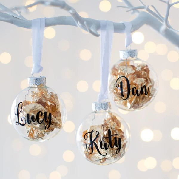 Personalised Gold Leaf Christmas Bauble Christmas Gift Ideas Personalizzed Chri Christmas Baubles Personalized Christmas Decor Gold Christmas Decorations