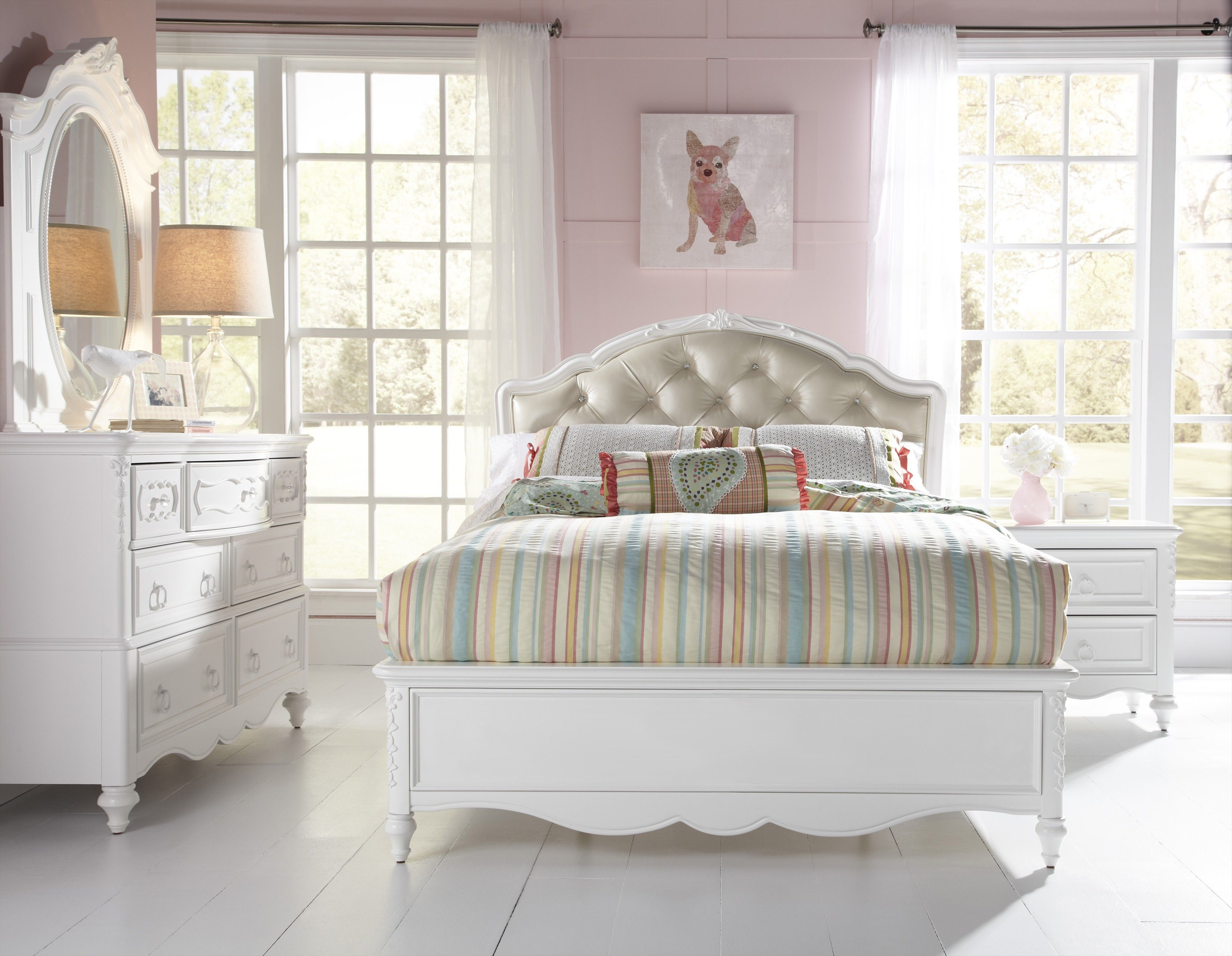 Transitional White Youth Bedroom Stuff to Buy