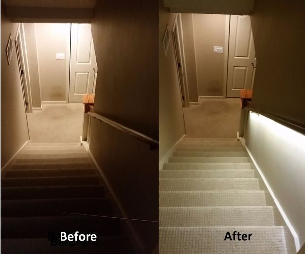 Stair Lighting Solution With Led Strips Stair Lighting Basement