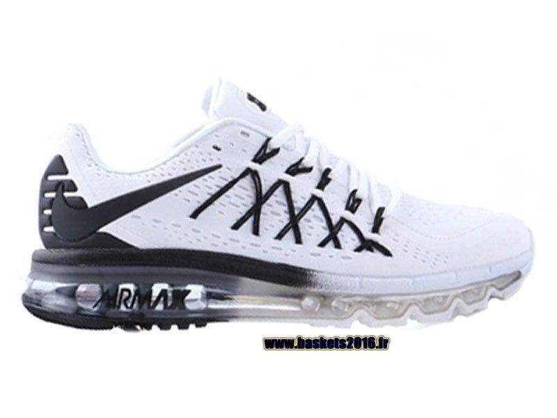 new concept 8beac d7a15 Boutique Officielle Nike Air Max 2015 Chaussures Pas Cher Pour Femme Noir -  Blanc