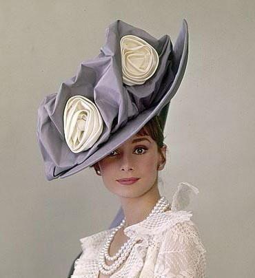 Vintage hat on the fabulous Audrey